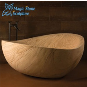 Bowl shape limestone sinks countertops for bathroom decor