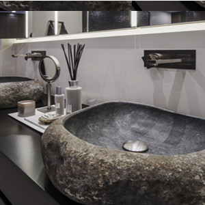 River stone solid surface  sink