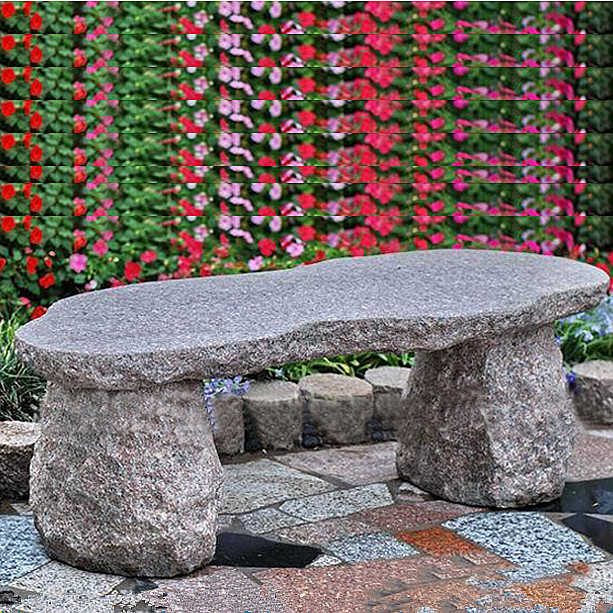 Granite custom size carved stone bench for park decor Featured Image