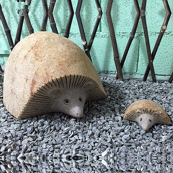 Carved stone hedgehog figurine garden ornaments Featured Image