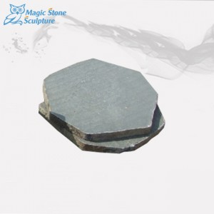 Honed surface basalt stepping stone