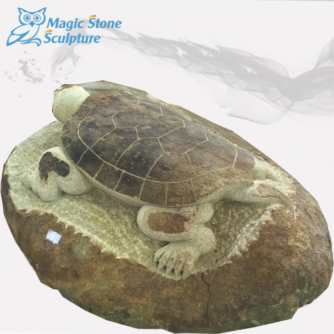 0614-0022 High Quality Life Size Marble Stone Turtle Statue