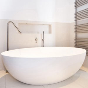 180*70*55 cm White Marble Stone Freestanding Bathtub for Bathtub Usage