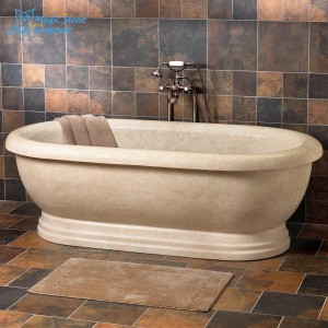 Square solid na bato bath tub bathtub
