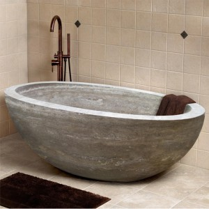 230 x 130x 35 cm Granite Stone Freestanding Bathtub for Bathtub Usage
