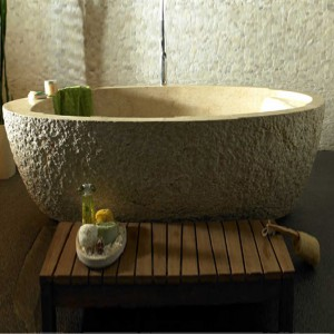 Granite Stone Freestanding Bathtub for Bathtub Usage
