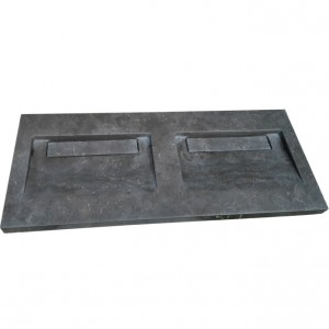 Rectangle black limestone kitchen basin sinks