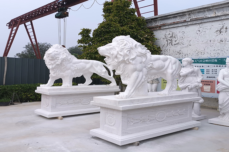 marble stone products in factory