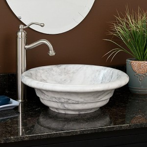 Dish shape limestone bathroom wash hand basin sink