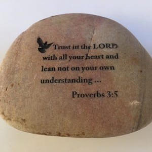 Pebble stone souvenir spiritual gifts with words engraved