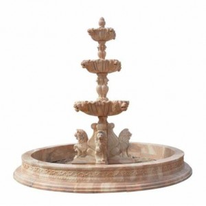 3 tier water fountain marble water feature for garden