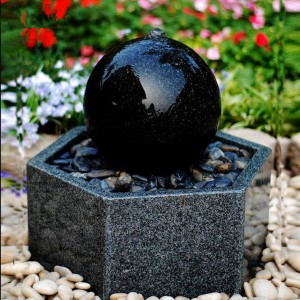 Outdoor ball with basin stone  water fountain