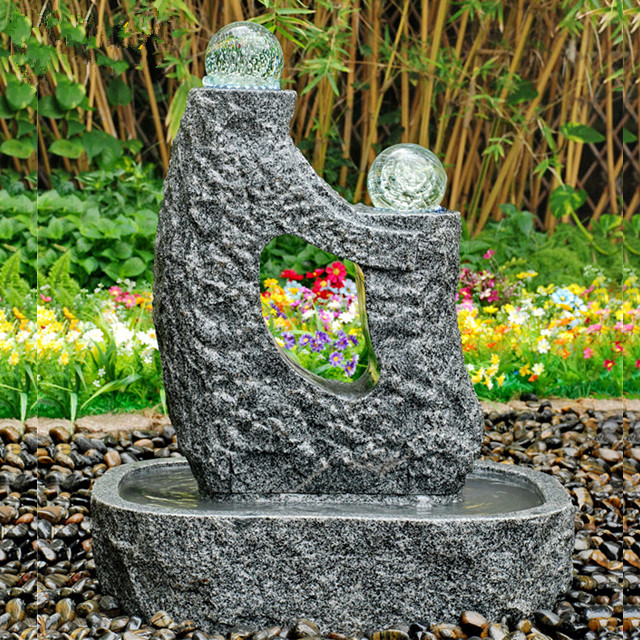 3767-078-808-1 Abstractive high Quality Sculpture Water Granite Fountain_副本