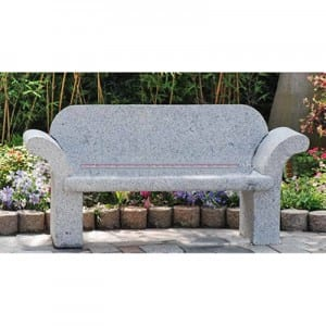 Wholesale Discount Free Standing Bathtub - Outdoor cheap granite stone park bench with back for sale – Magic Stone