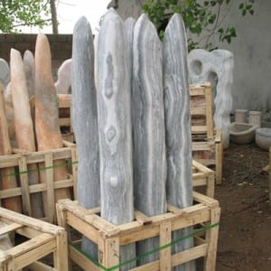 Marble column landscaping stone for outdoor decor