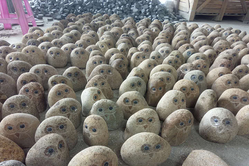 factory view- cobble stone owl