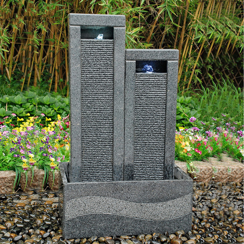 6929-100-808-1 Outdoor granite water fountain Electra_副本