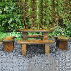 2021 hot sale cheap granite garden table and chairs