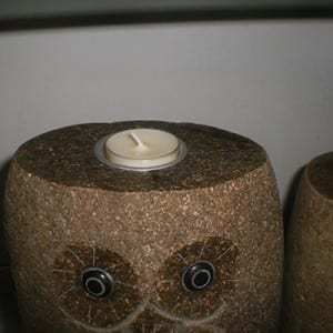 Chinese stone owl cheap candle holder carving for sale