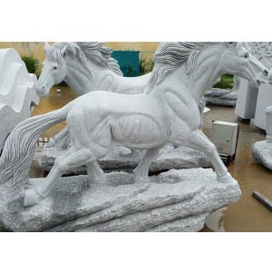 Life size marble running horse statue