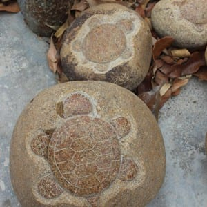 xiamen supplier turtle sculpture drawing on rock