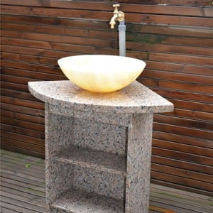 Natural marble stone pedestal sinks for bathroom usage