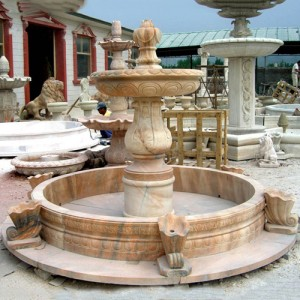 Custom outdoor marble stone fountain for sale