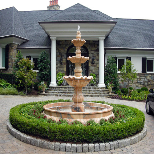 European Marble Stone Water Fountain Featured Image