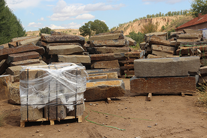 raw material of basalt products in factory
