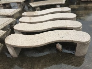 Outdoor granite stone table and chair set