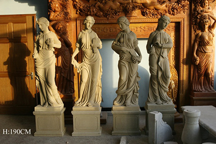 marble stone sculptures in factory