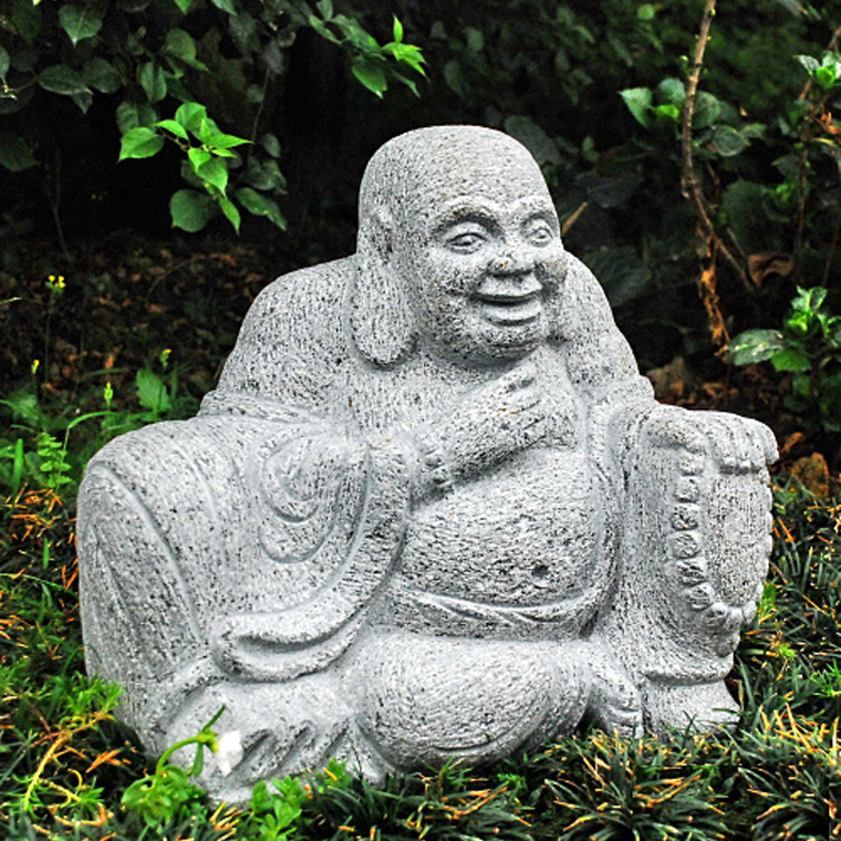 Outdoor-large-laughing-stone-buddha-statues