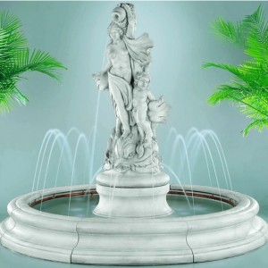Venus with dolphins in Toscana pool fountain