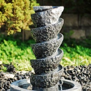 Tall outdoor backyard Water fountains feature