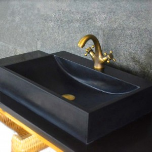 Cobble stone bathroom sinks