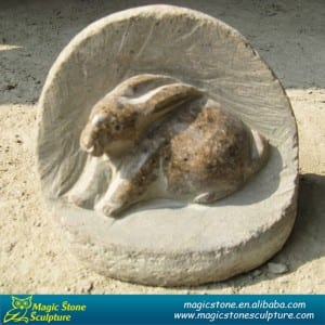 Cobble stone rabbit sculpture on sale