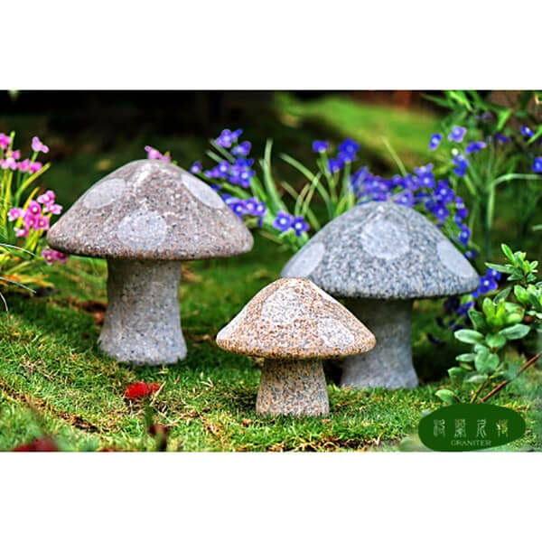 Garden decorative stone mushrooms Featured Image