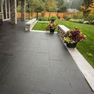 Outdoor natural stone black basalt paver for sale